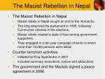 the maoist rebellion in nepal