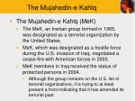 the mujahedin e kahlq