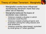theory of urban terrorism marighella