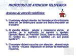 protocolo de atencion telefonica