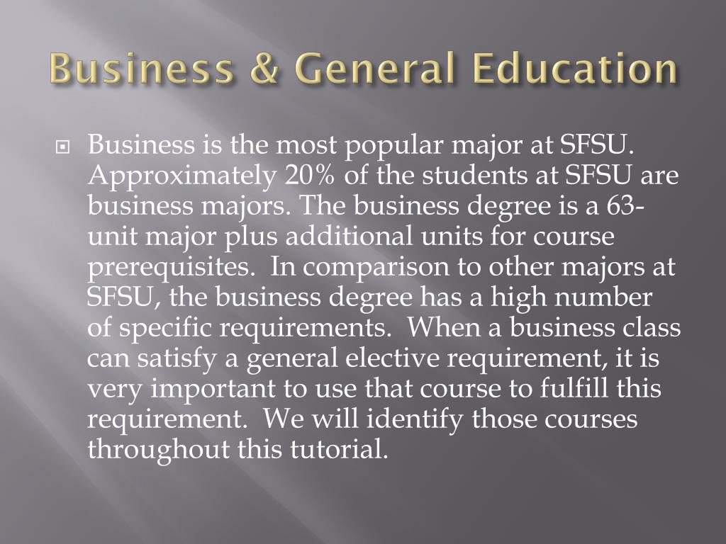 Business & General Education
