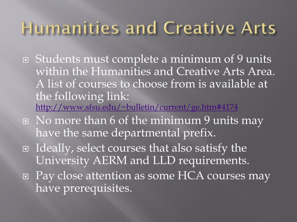 Humanities and Creative Arts