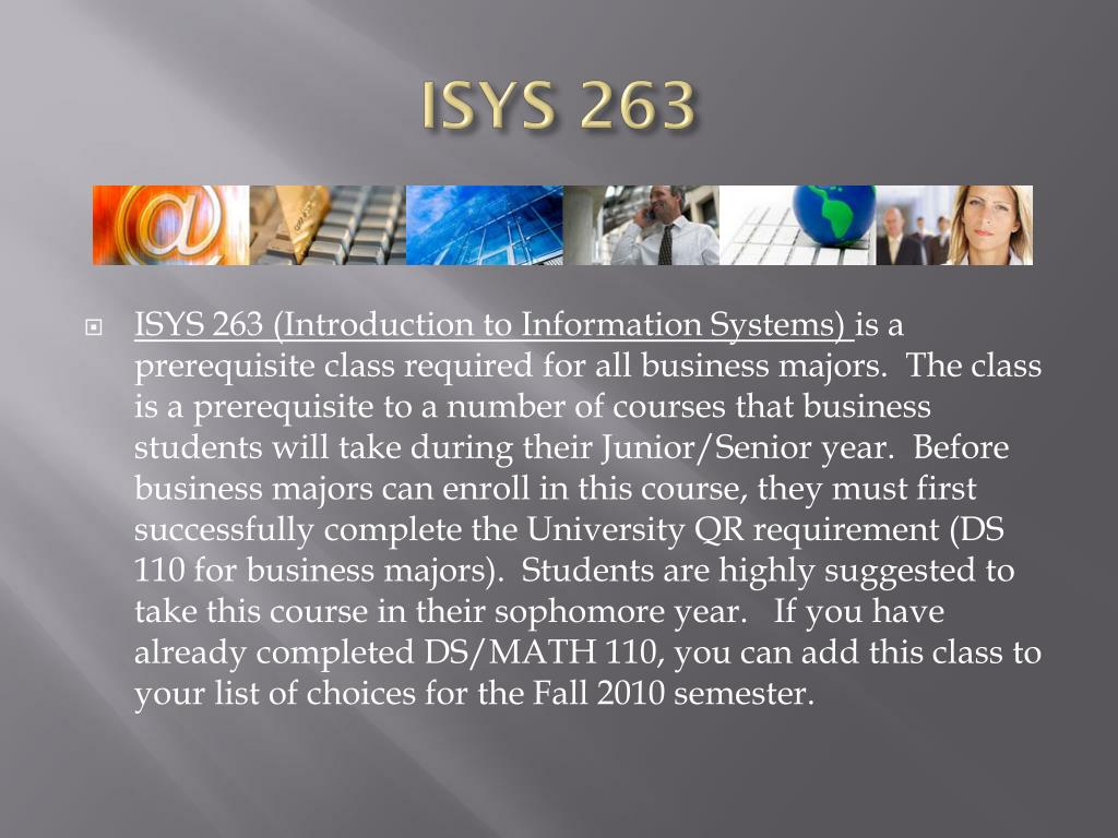 ISYS 263