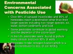 environmental concerns associated with pesticide use