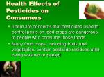 health effects of pesticides on consumers