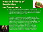 health effects of pesticides on consumers22
