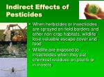 indirect effects of pesticides