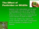 the effect of pesticides on wildlife