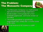 the problem the monsanto company