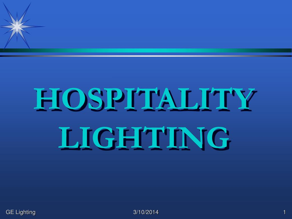 hospitality lighting l.