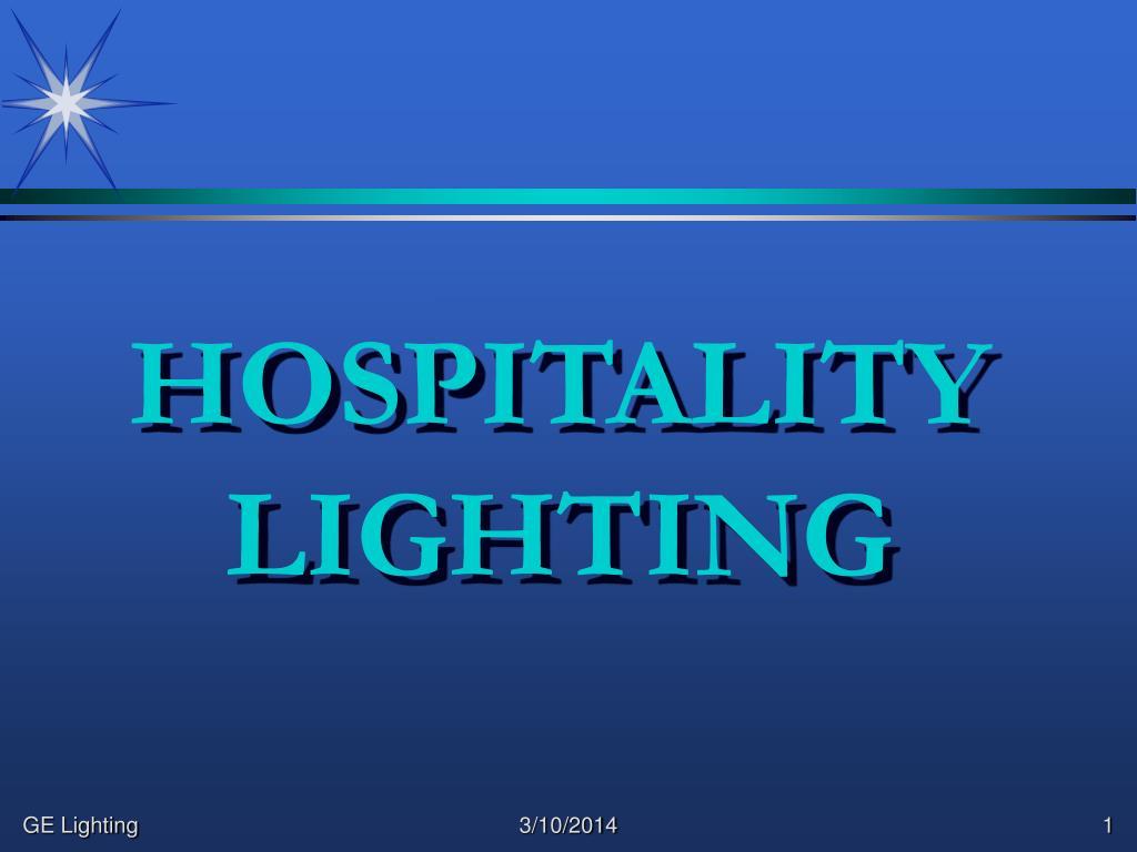 hospitality lighting l.