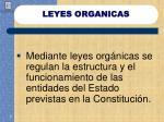 leyes organicas