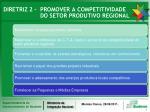 diretriz 2 promover a competitividade do setor produtivo regional
