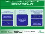 o desenvolvimento da regi o nordeste instrumentos de a o