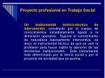 proyecto profesional en trabajo social