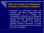 retos del colegio de trabajadores sociales en el contexto neoliberal21