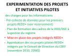 experimentation des projets et initiatives pilotes15