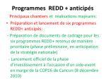 programmes redd anticip s