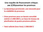 une requ te de financement critique axe 3 3dynamiser les provinces