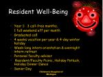 resident well being
