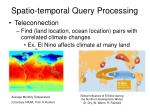 spatio temporal query processing