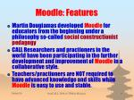 moodle features