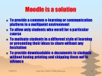 moodle is a solution