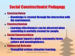 social constructionist pedagogy