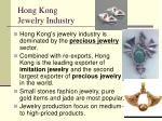 hong kong jewelry industry
