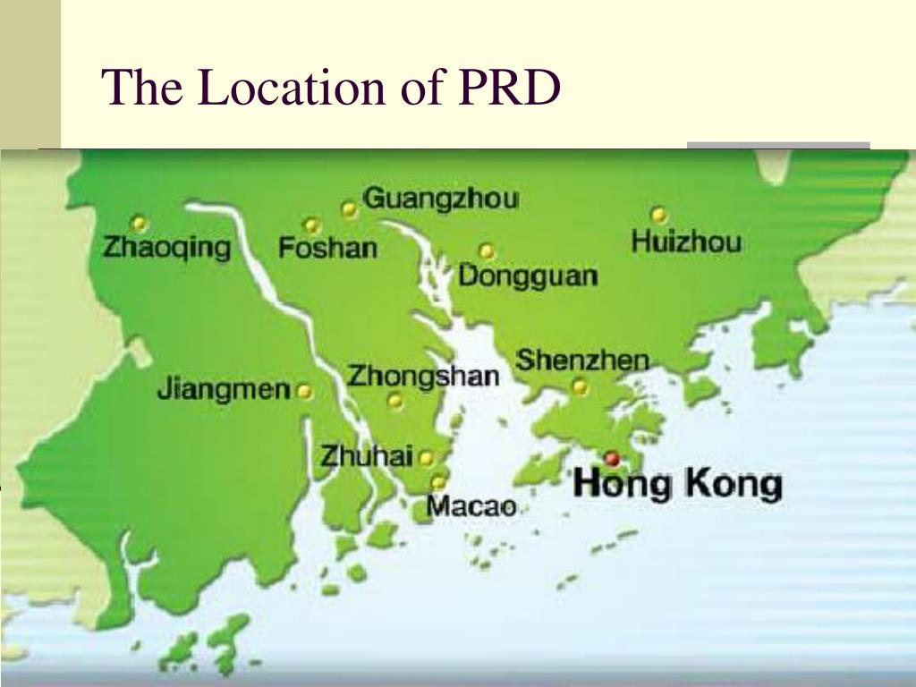 The Location of PRD