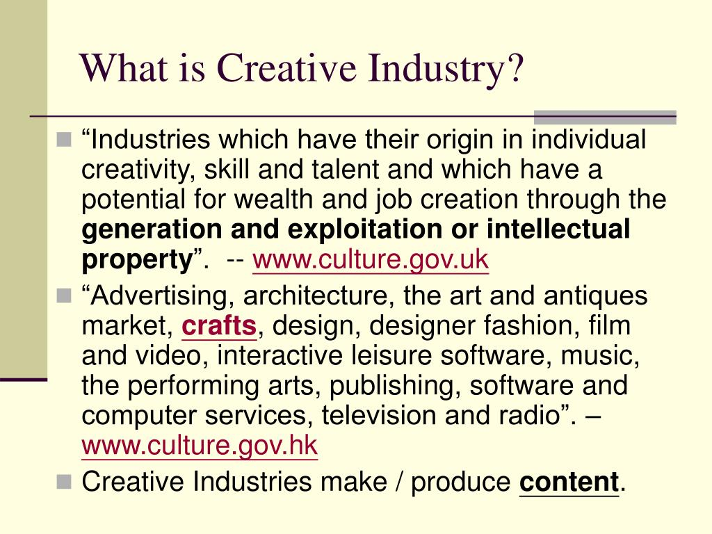 What is Creative Industry?