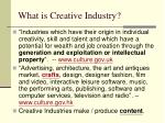 what is creative industry