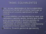 tasas equivalentes