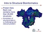intro to structural bioinformatics