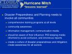 hurricane mitch lessons learned11