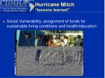 hurricane mitch lessons learned13