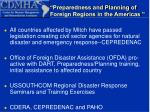 preparedness and planning of foreign regions in the americas