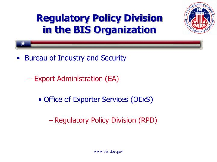 Regulatory policy division in the bis organization