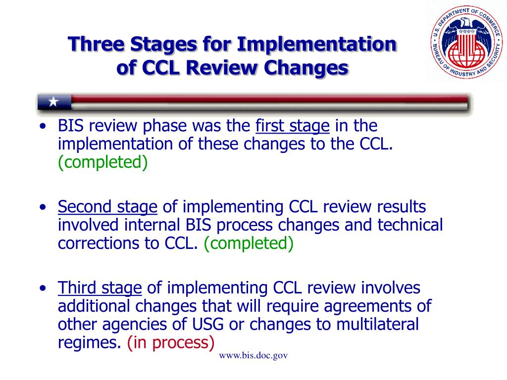 Three Stages for Implementation