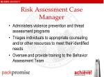 risk assessment case manager
