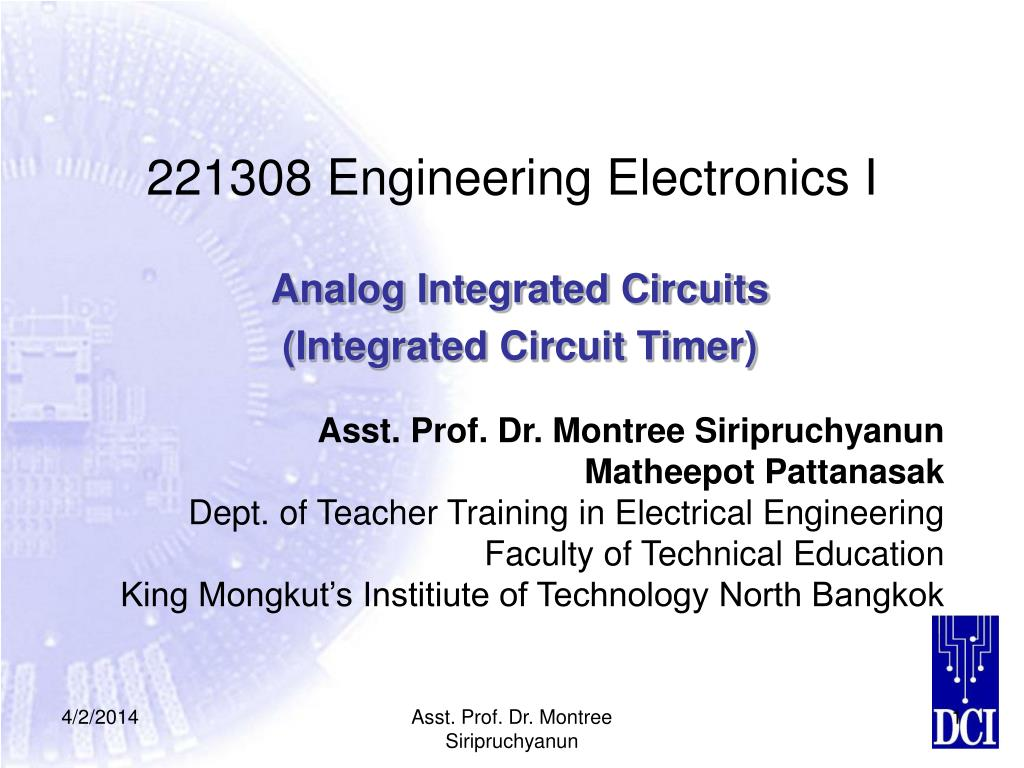 221308 engineering electronics i l.