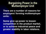 bargaining power in the multiemployer unit