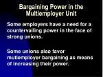 bargaining power in the multiemployer unit51