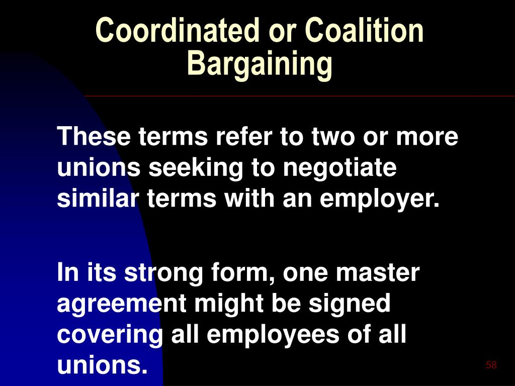 Coordinated or Coalition Bargaining