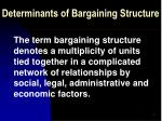 determinants of bargaining structure