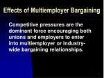 effects of multiemployer bargaining