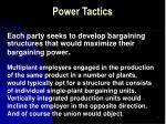 power tactics