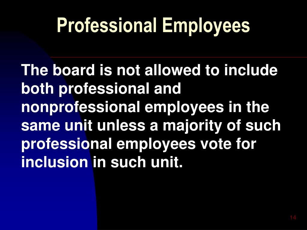 Professional Employees