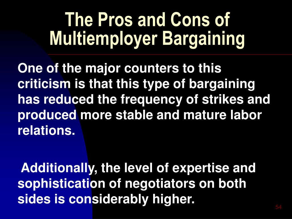 The Pros and Cons of Multiemployer Bargaining