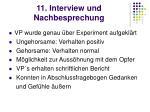 11 interview und nachbesprechung